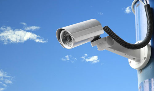 security-camera-mounted